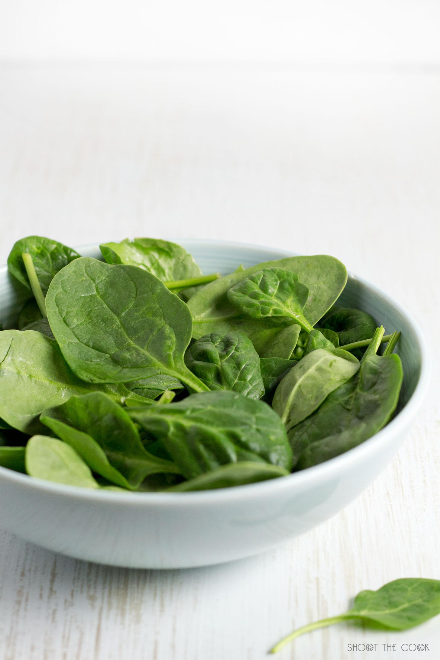 Lentejas en ensalada con espinacas