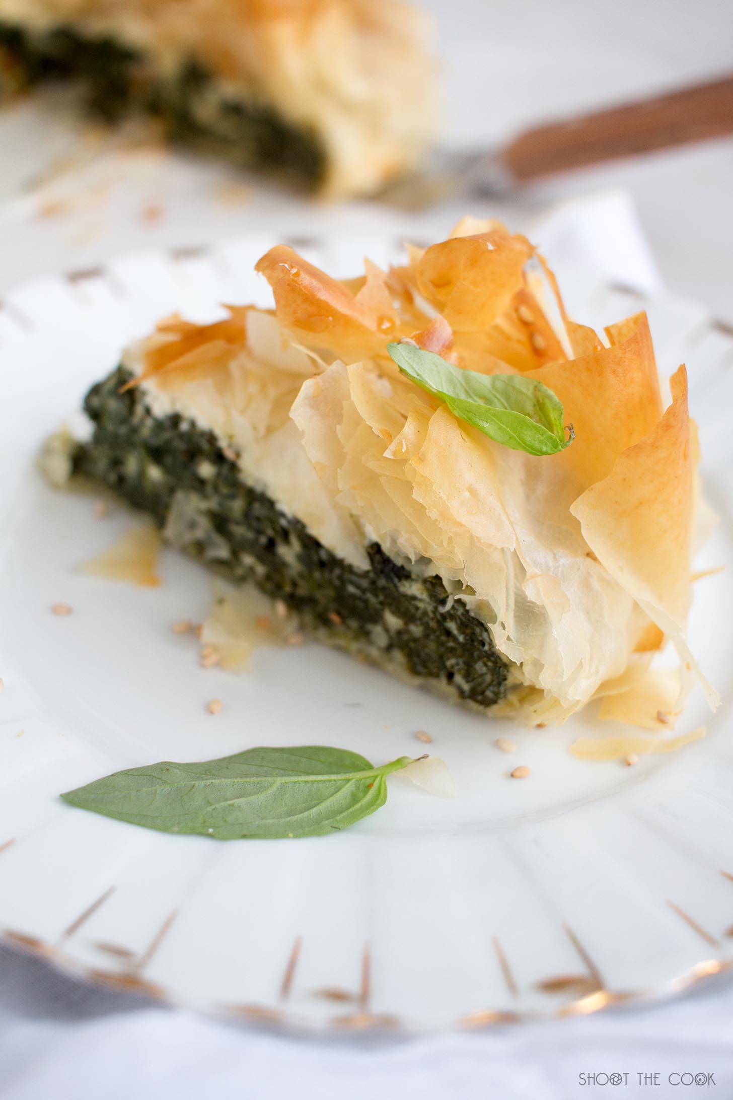 pastel de espinacas y queso feta griego