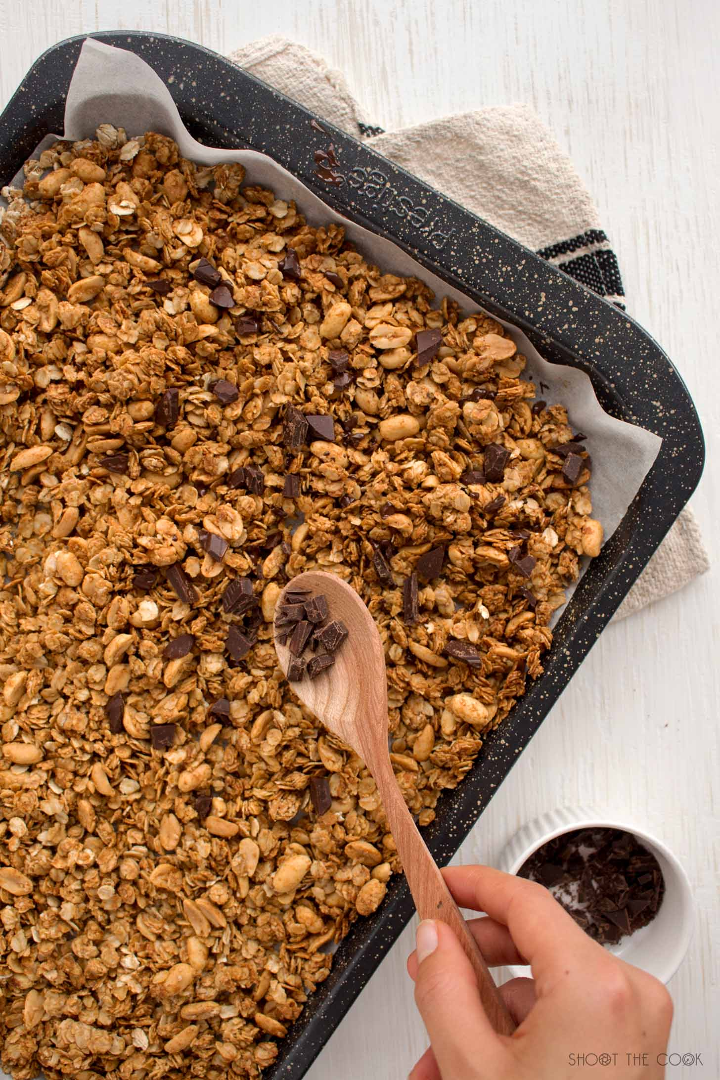 receta granola con crema cacahuete