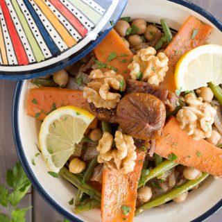 tajine de verduras marroqui