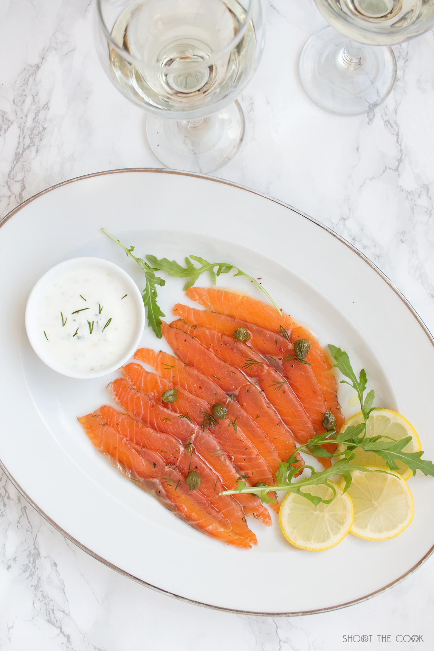 carpaccio de salmon facil