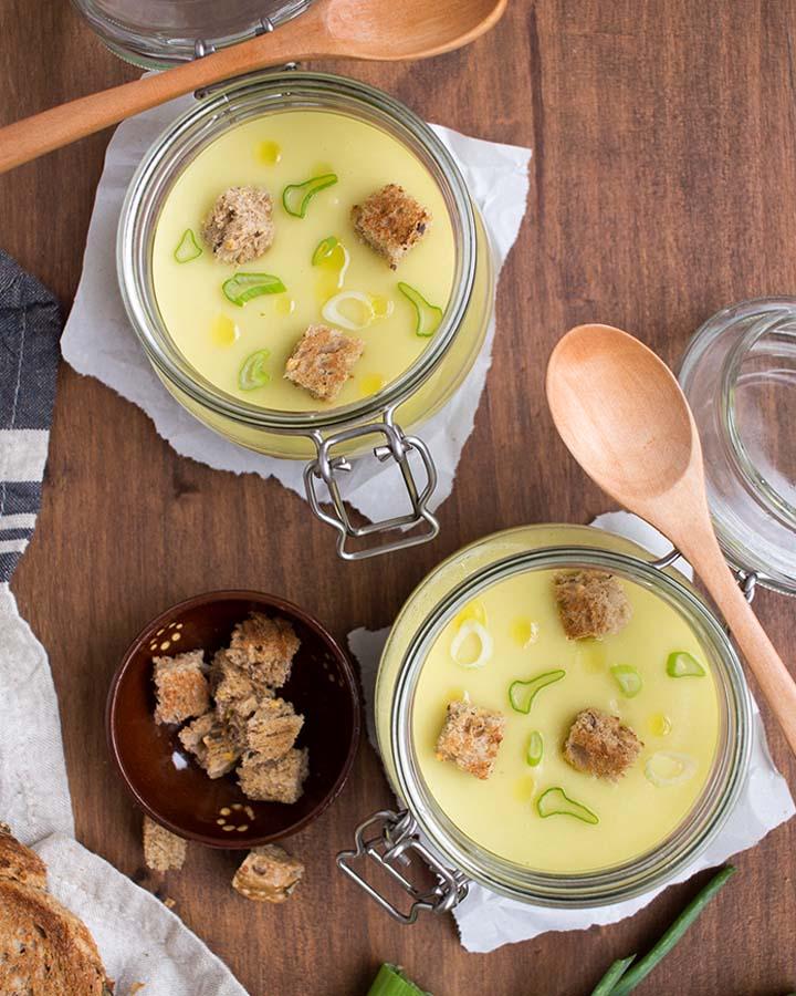 Crema de Puerros con Manzana, Una Vichyssoise Diferente y Deliciosa