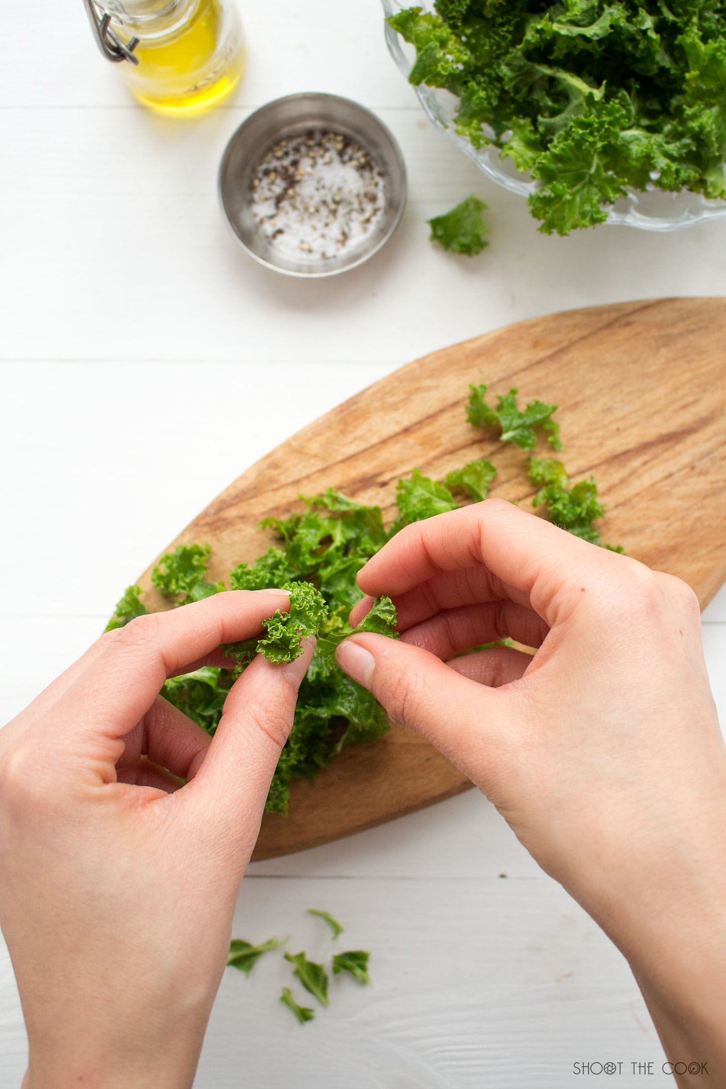 Ensalada de trigo sarraceno y col rizada o kale