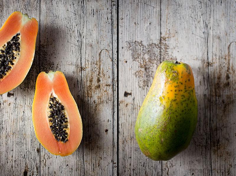 ensalada de papaya y jamon