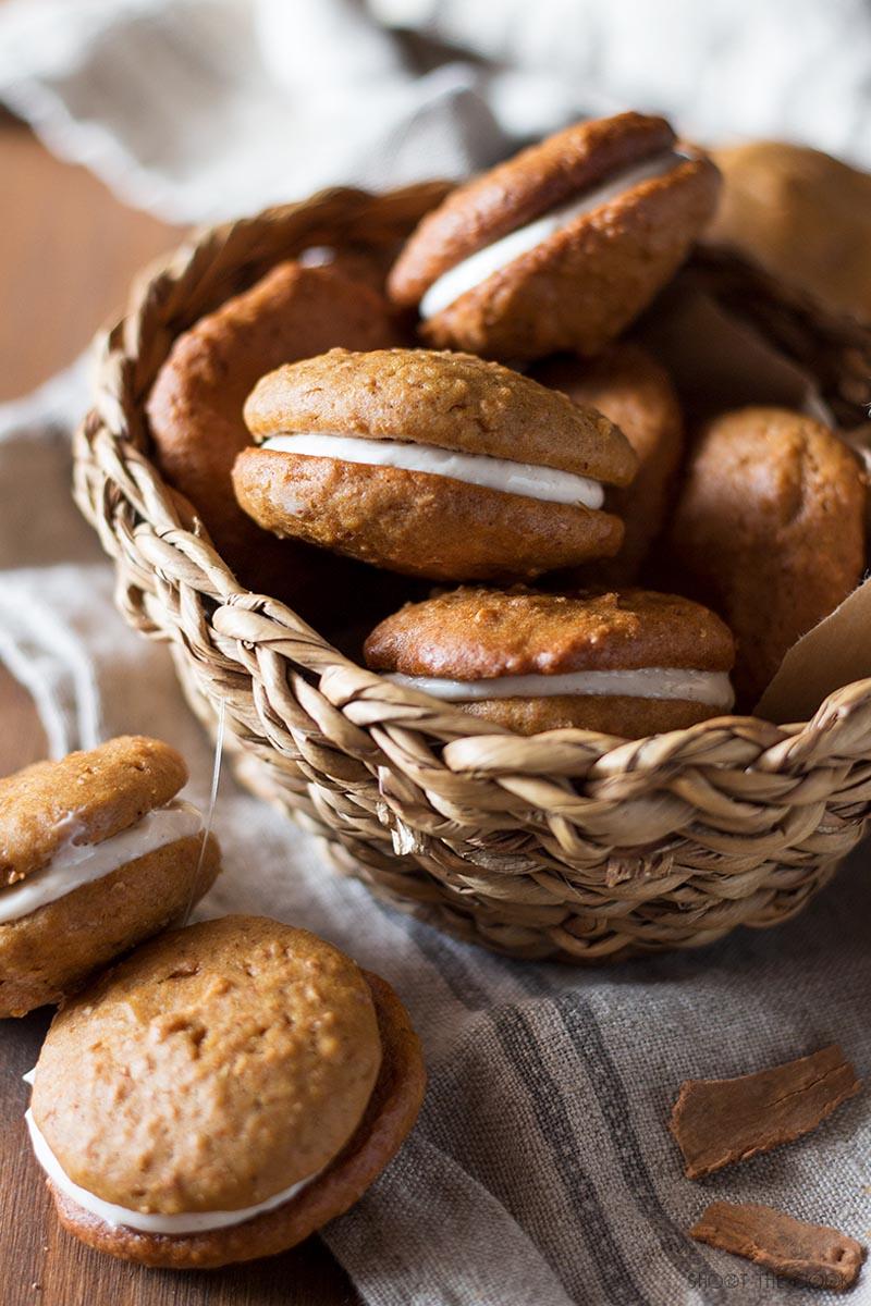 galletas de calabaza con frosting
