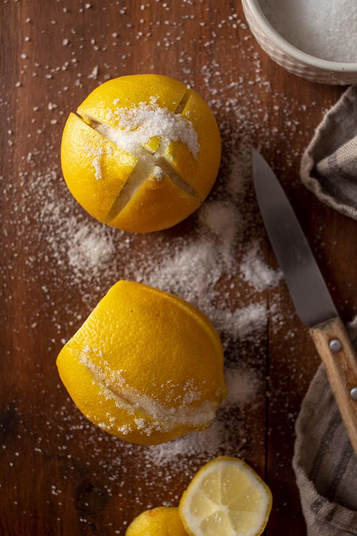Limones encurtidos marroquíes