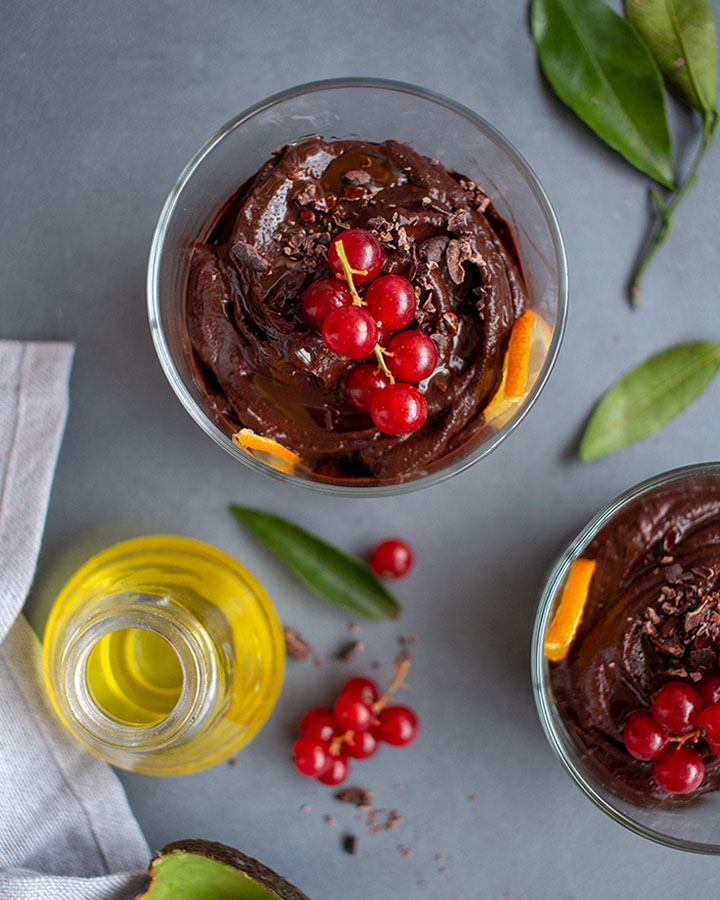 Mousse de Chocolate Saludable con Aguacate