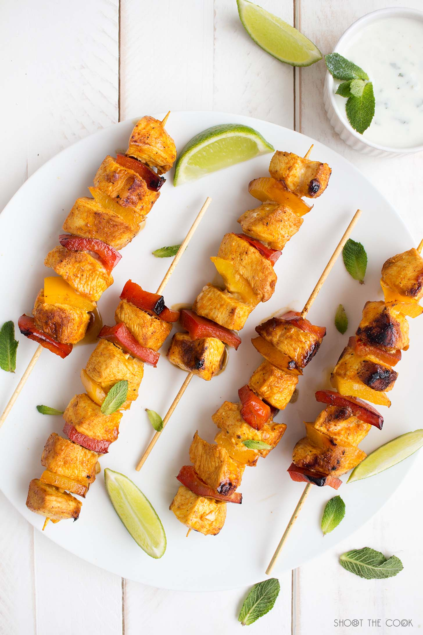 pinchos de pollo al curry receta