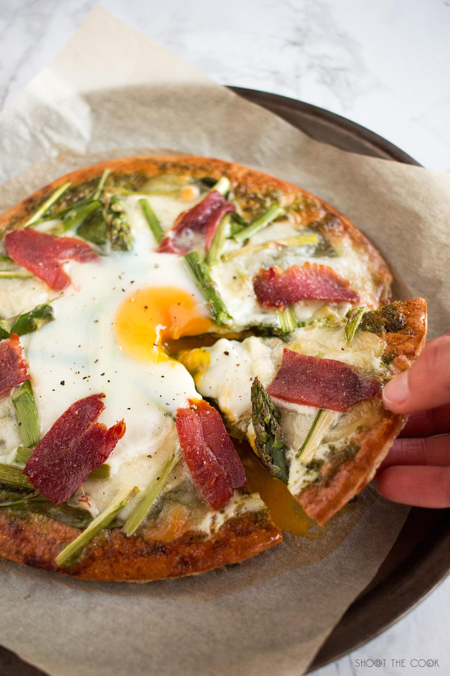 pizza avena con huevo
