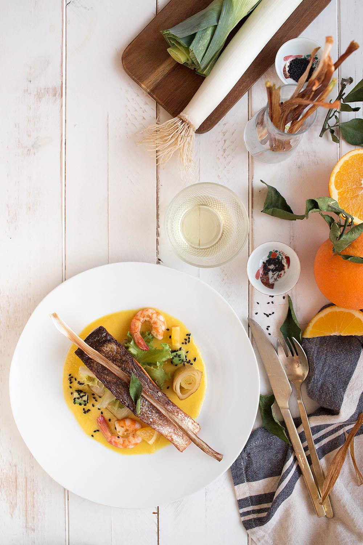 receta de salmón con salsa de naranja al cointreau
